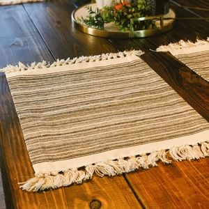 Set of 4 Target Placemats perfect condition tassel